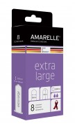 AMARELLE Condoms Extra Large Size 60 (Red Ribbon) 8er