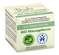 BIO Massagekerze Senses Natura in Dose mit Box 115ml