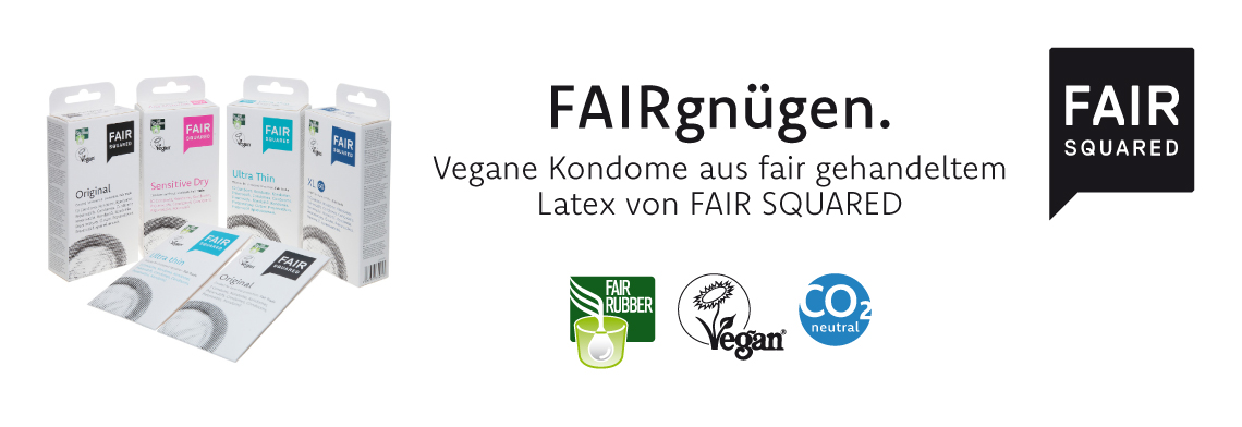 FAIR SQUARED Fair Trade Kondome